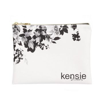 Kensie Womens Canvas Floral Print Cosmetic Bags