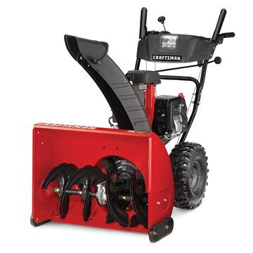 CRAFTSMAN SB450 26-in 208-cu cm Two-stage Self-propelled Gas Snow Blower with Push-button Electric Start;; Headlight(s) | CMXGBAM1054542