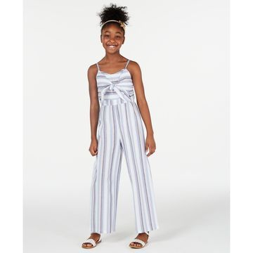 Big Girls Striped Jumpsuit