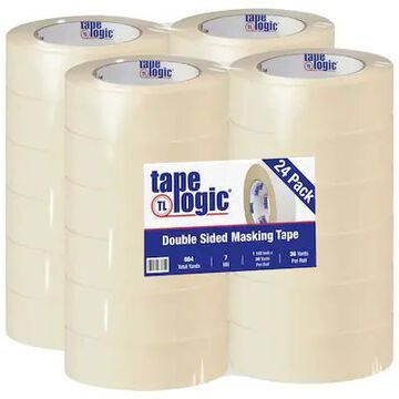 Tape Logic Double Sided Masking Tape, 7 Mil, 1 1/2 x 36 yds, Tan, 24/Case (T956100) | Quill