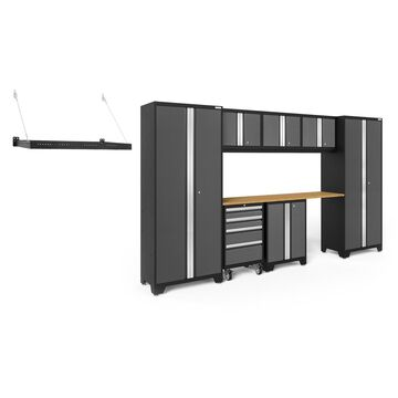 NewAge Products Bold Series 3.0 Grey 9 Piece Cabinet Set