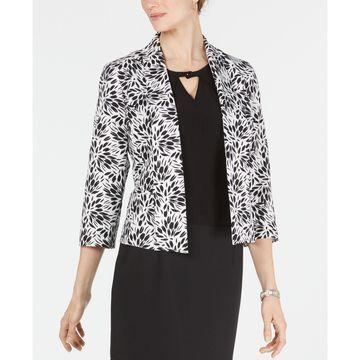Sunburst Open-Front Crepe Jacket