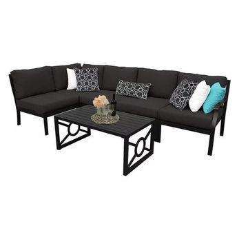 kathy ireland Madison Ave. 6 Piece Aluminum Patio Furniture Set 06q, O