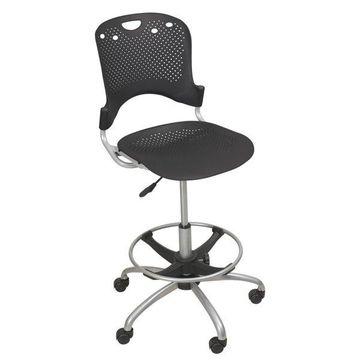 Balt Circulation Stool, Polypropylene Back/Seat, Black