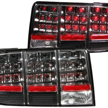 2009 Ford Mustang Anzo USA LED Tail Lights in Black, LED Tail Lights - 321020