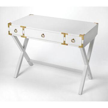 Butler Forster Glossy White Writing Desk