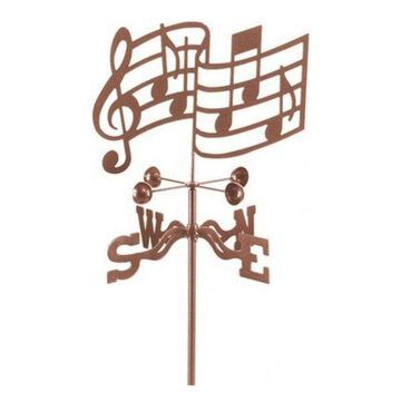 EZ Vane Musical Notes Weathervane With Deck Mount