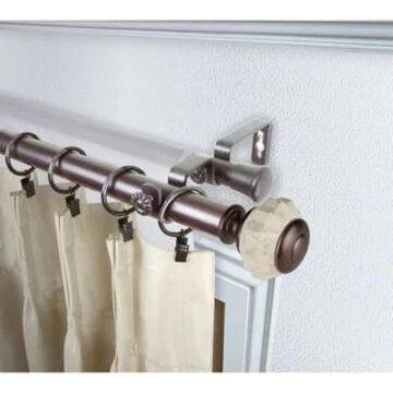 InStyleDesign Allison 1 inch Diameter Adjustable Double Curtain Rod