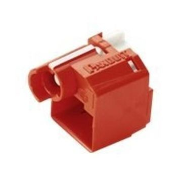 PanduitRecessed Lock-in Device - Outlet port lock kit - red - for IndustrialNet TX5e; MINI-COM TX5e, TX-5e, TX6; NetKey Category 5e(PSL-DCPLRX-C)