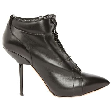 Rochas Black Leather Ankle boots