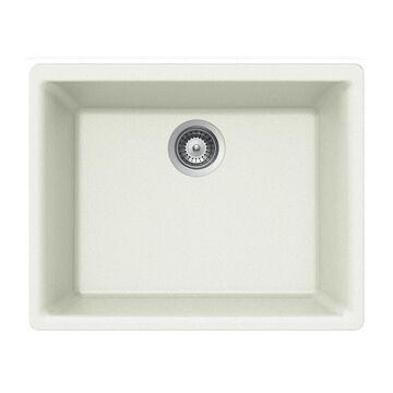 HOUZER Undermount 23.625-in x 18.3125-in Cloud Single Bowl Kitchen Sink in Off-White | G-100U CLOUD