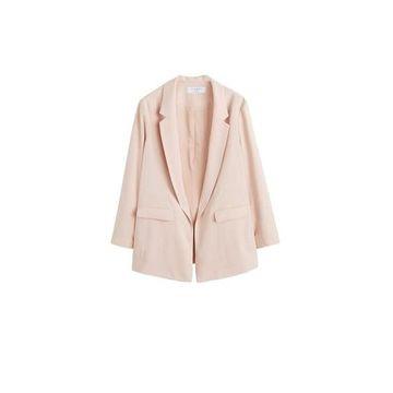 Violeta BY MANGO - Structured suit blazer nude - XS - Plus sizes