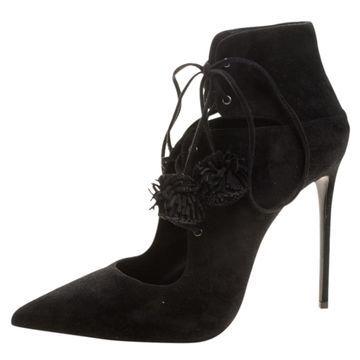 Le Silla Black Suede Boots