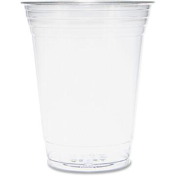 DART Ultra Clear Cups Squat 16-18 oz PET 50/Bag 1000/Carton TP16DCT