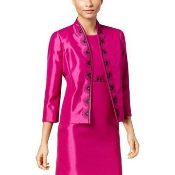 Kasper Womens Embroidered Shimmer Blazer