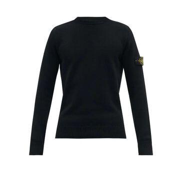 Stone Island - Logo-patch Wool-blend Sweater - Mens - Black