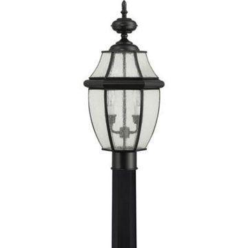 Quoizel Newbury Hanging 2-Light Lantern Post in Black