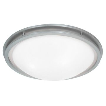 Access Lighting Aztec LED-light 22 inch Brushed Steel Flush Mount - Silver