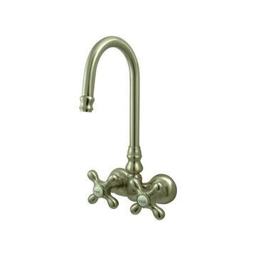 Kingston Brass Vintage Wall Mount Clawfoot Tub Filler, Brushed Nickel