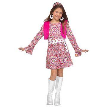 Fun World Shaggy Chic Child Costume (Pink)-Large