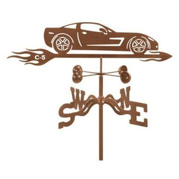 EZ Vane Corvette C5 Car Weathervane With Deck Mount