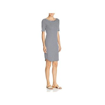 Three Dots Womens Casual Dress Striped Knee-Length