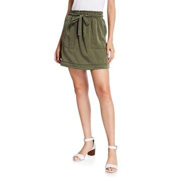 Elastic Tie Paper Bag Skirt
