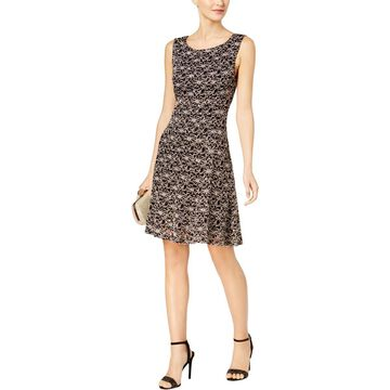 Connected Apparel Womens Embellished Lace Midi Dress