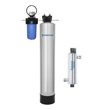 Pentair NaturSoft 15-GPM Ultraviolet UV Whole House Water Filtration System Stainless Steel in Gray   PC1000-PUV-14-P