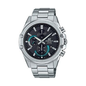 Casio Men's EDIFICE Slim Stainless Steel Solar Chronograph Watch - EFRS567D-1AV, Size: XL, Silver