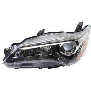 Headlight Depo - 15-17 Toyota Camry/Camry-Hybrid SE/XSE Headlamp Assembly LEFT HAND / DRIVER SIDE Halogen Type CAPA Certified