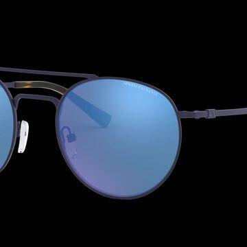 Armani Exchange Unisex AX2028S - Frame color: Matte Blue, Lens color: Blue Mirror, Size 53-21/140