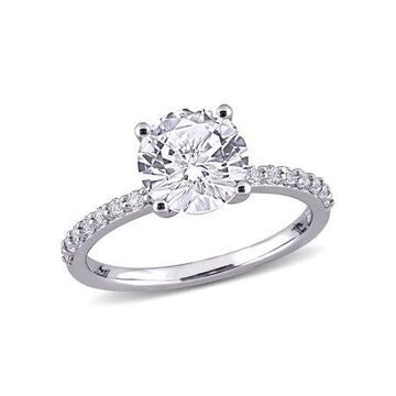 Miabella 2-3/4 Carat T.G.W. Created White Sapphire 10k White Gold Engagement Ring