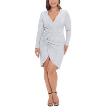 Betsy & Adam Plus Size Ruched Sheath Dress