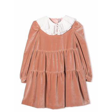 Il Gufo Dress With Contrast Collar