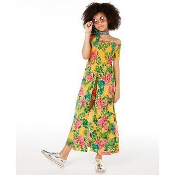 Big Girls Floral-Print Walkthrough Romper Dress, Created for Macy's