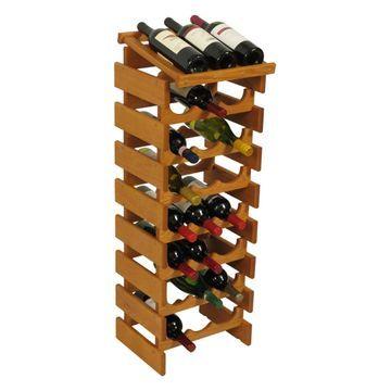 Dakota 24 Bottle Wine Rack with Display Top - Triple Row - WRD37