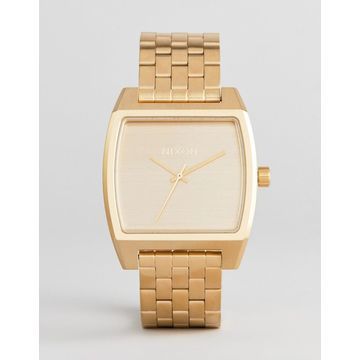 Nixon A1245 Time Tracker Bracelet Watch In Gold