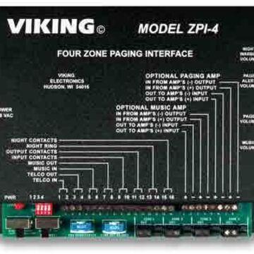 Electronics ZPI-4 Multi-Zone Paging INter