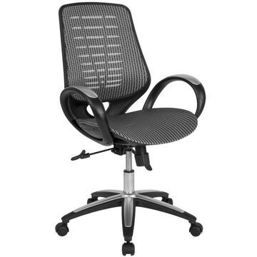 Flash Furniture Newton Gray Contemporary Adjustable Height Swivel Executive Chair