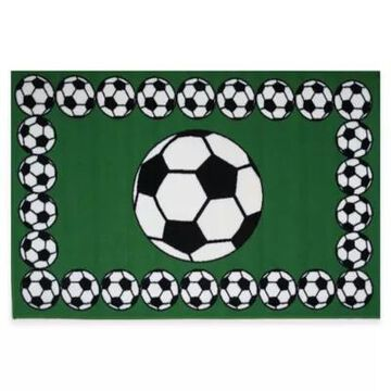 Fun Rugs Soccer Time 1-Foot 7-Inch X 2-Foot 5-Inch Rug