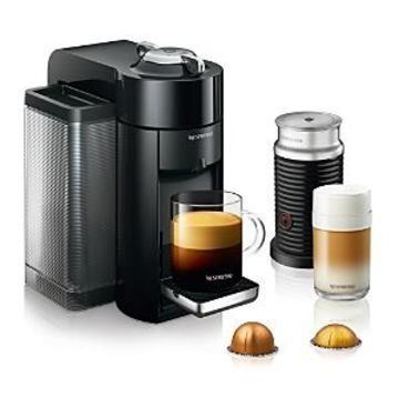 Nespresso Vertuo by De'Longhi with Aeroccino Milk Frother, Classic Black