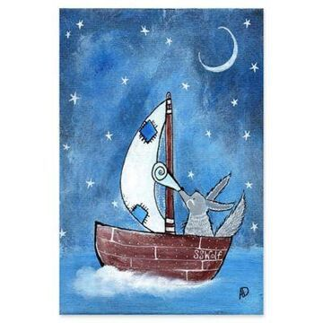 Marmont Hill Bad Wolf's Boat 30-Inch x 45-Inch Canvas Wall Art