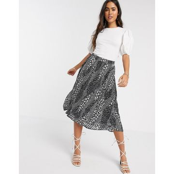 Ichi printed midi skirt-Multi