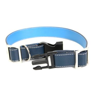 Royce Leather Small Dog Collar - Blue