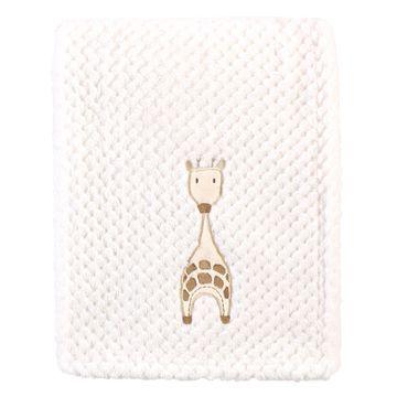 Hudson Baby Lovey Blankets Modern - White Giraffe Waffle-Knit Blanket