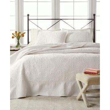 Martha Stewart Collection Lush Embroidery Twin Bedspread, Created for Macy's