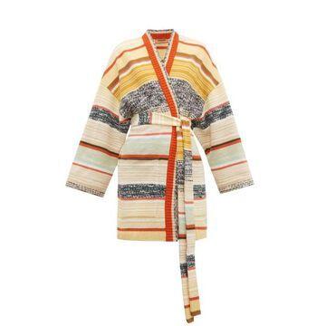 Missoni - Striped Wool-blend Cardigan - Womens - Cream Multi