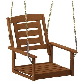 Furinno Tioman Hardwood Single Hanging Porch Swing With Chain
