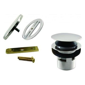 Tip Toe Integrated Overflow Tub Trim With Floating Faceplate, Polished Nickel